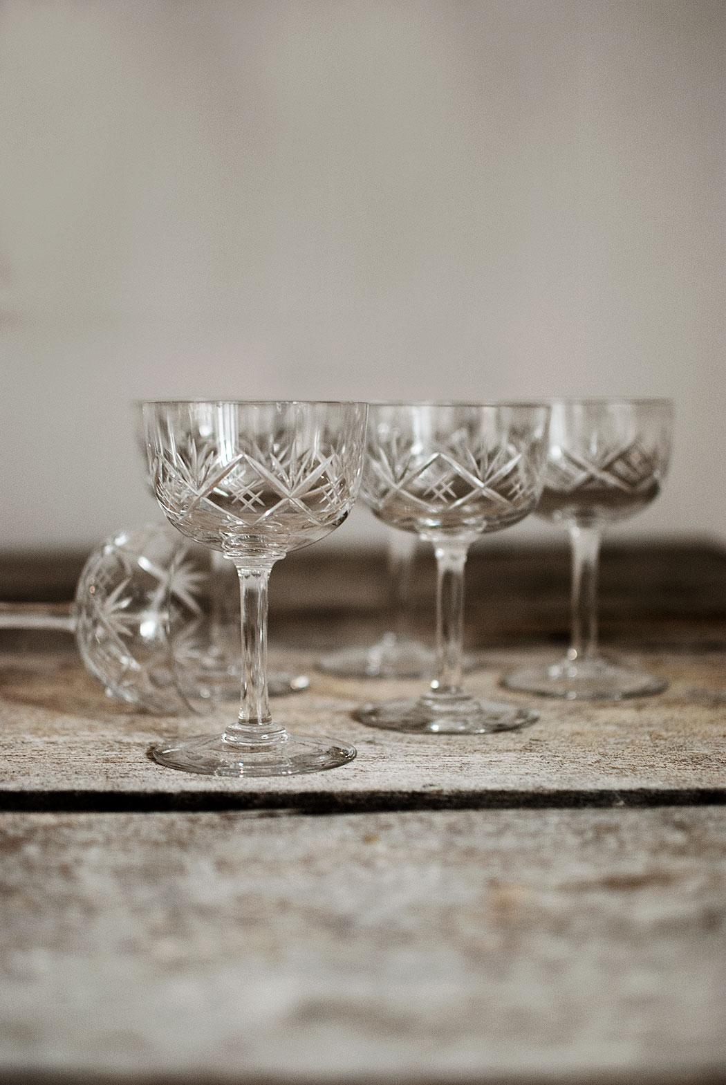 nya (gamla) champagnecoupeglas