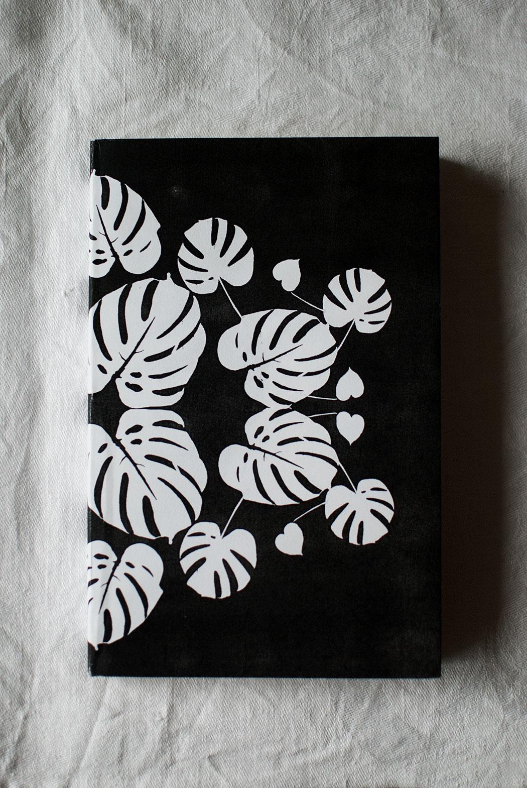 Monthly Makers kontrast – växtprint i svartvitt