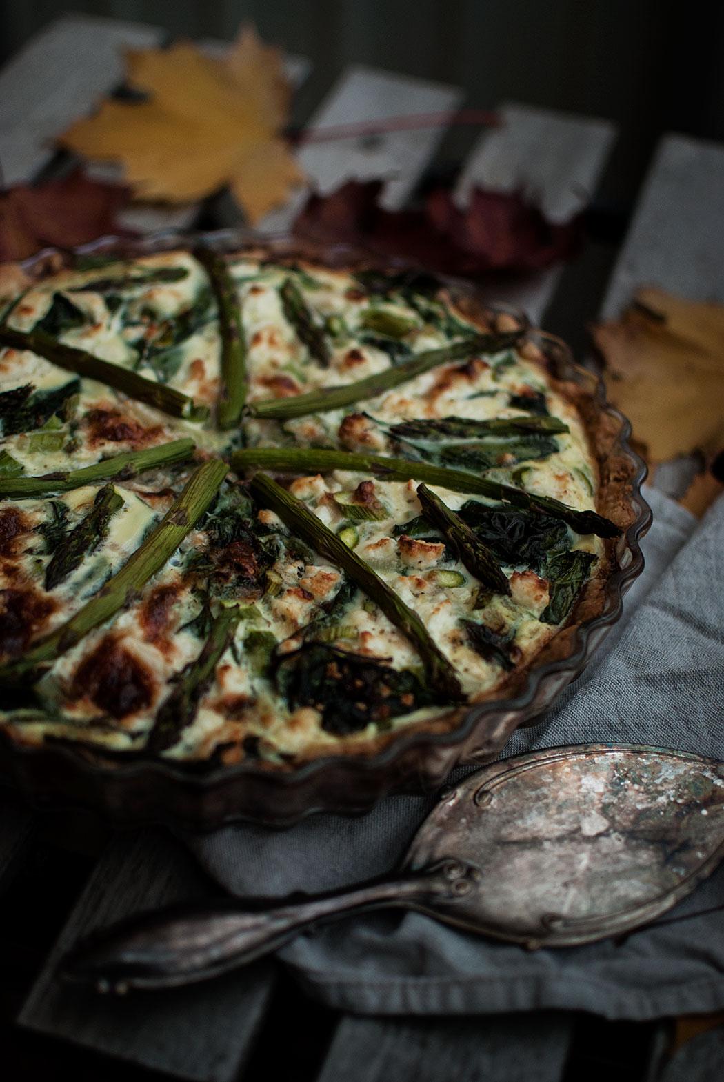 recept: vegetarisk sparrispaj