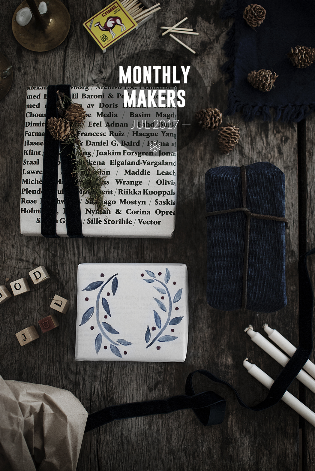 Monthly Makers Jul: Hållbar julklappsinslagning
