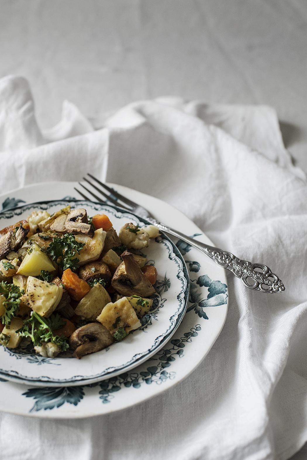 Recept: vegetarisk halloumipytt