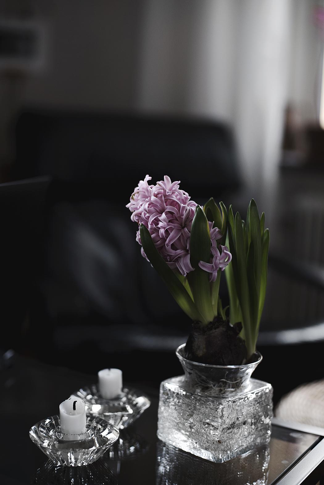 secondhand – ljusstakar i glas