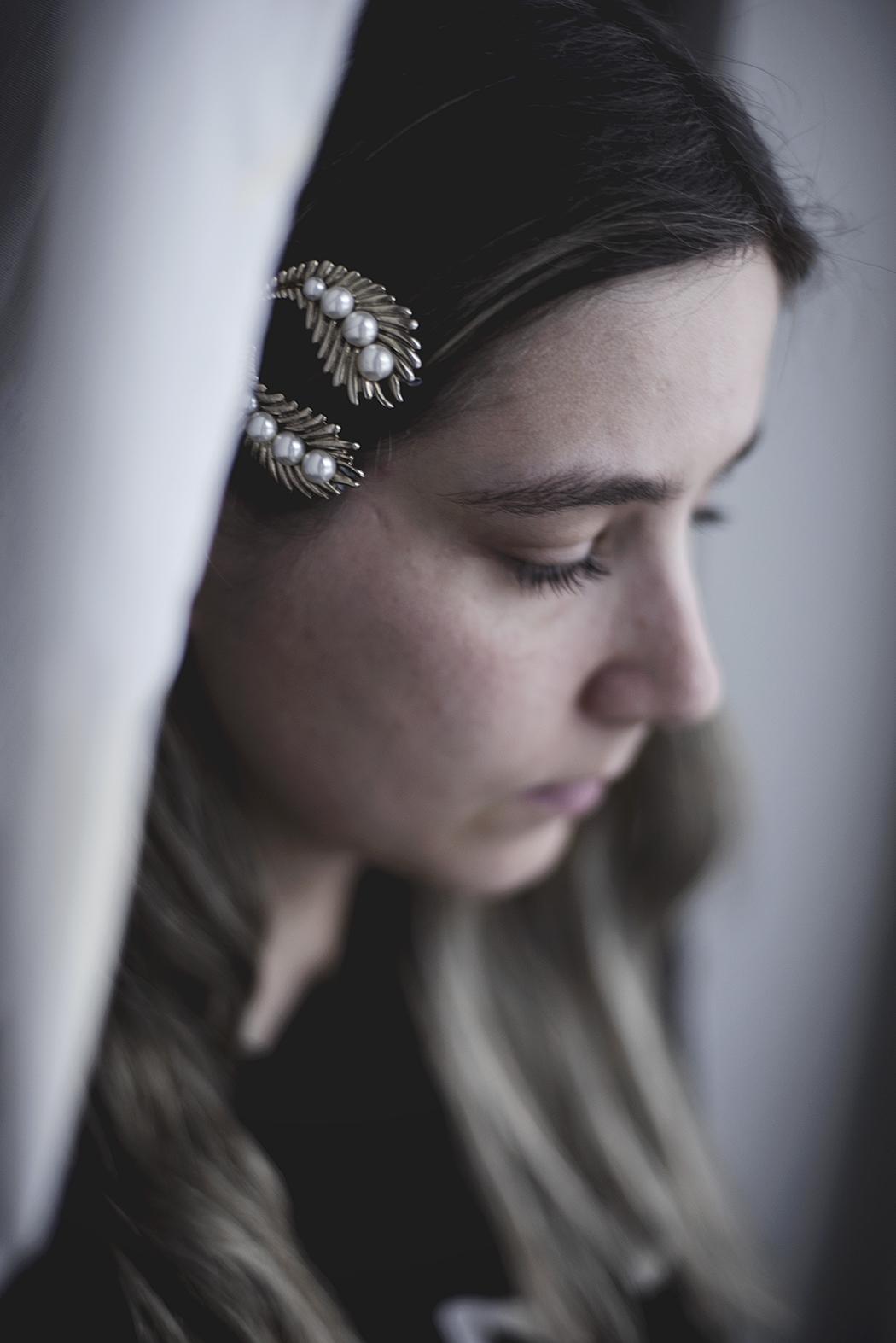 DIY – hårspännen av gamla örhängen