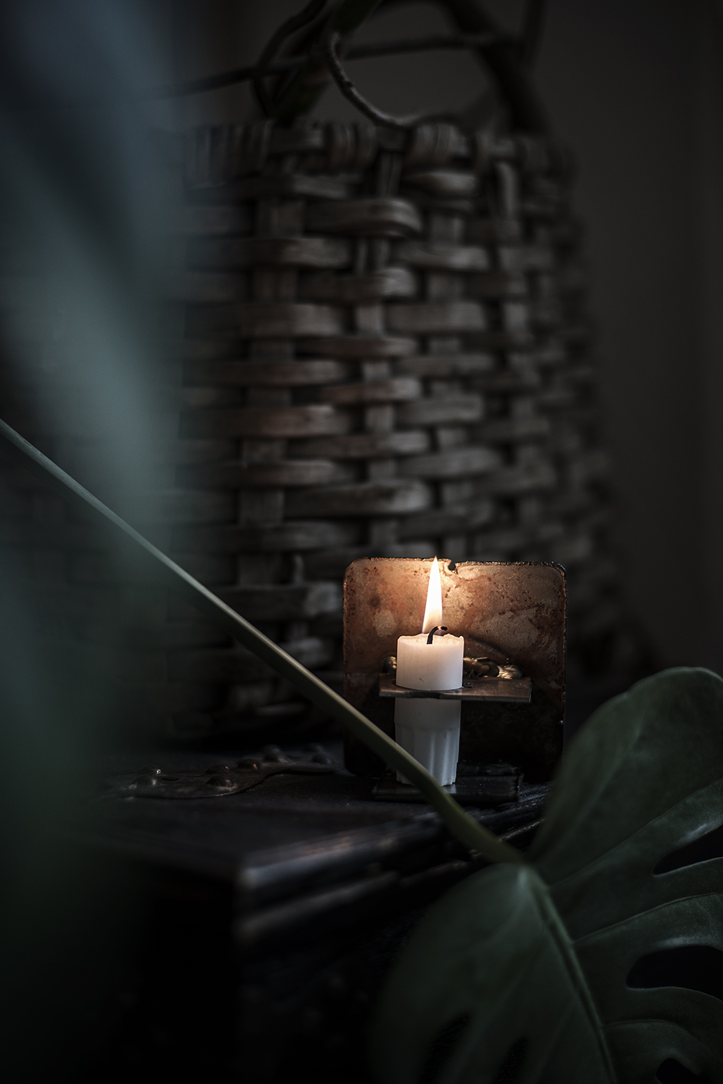 prova-på-svets och en ljusstake