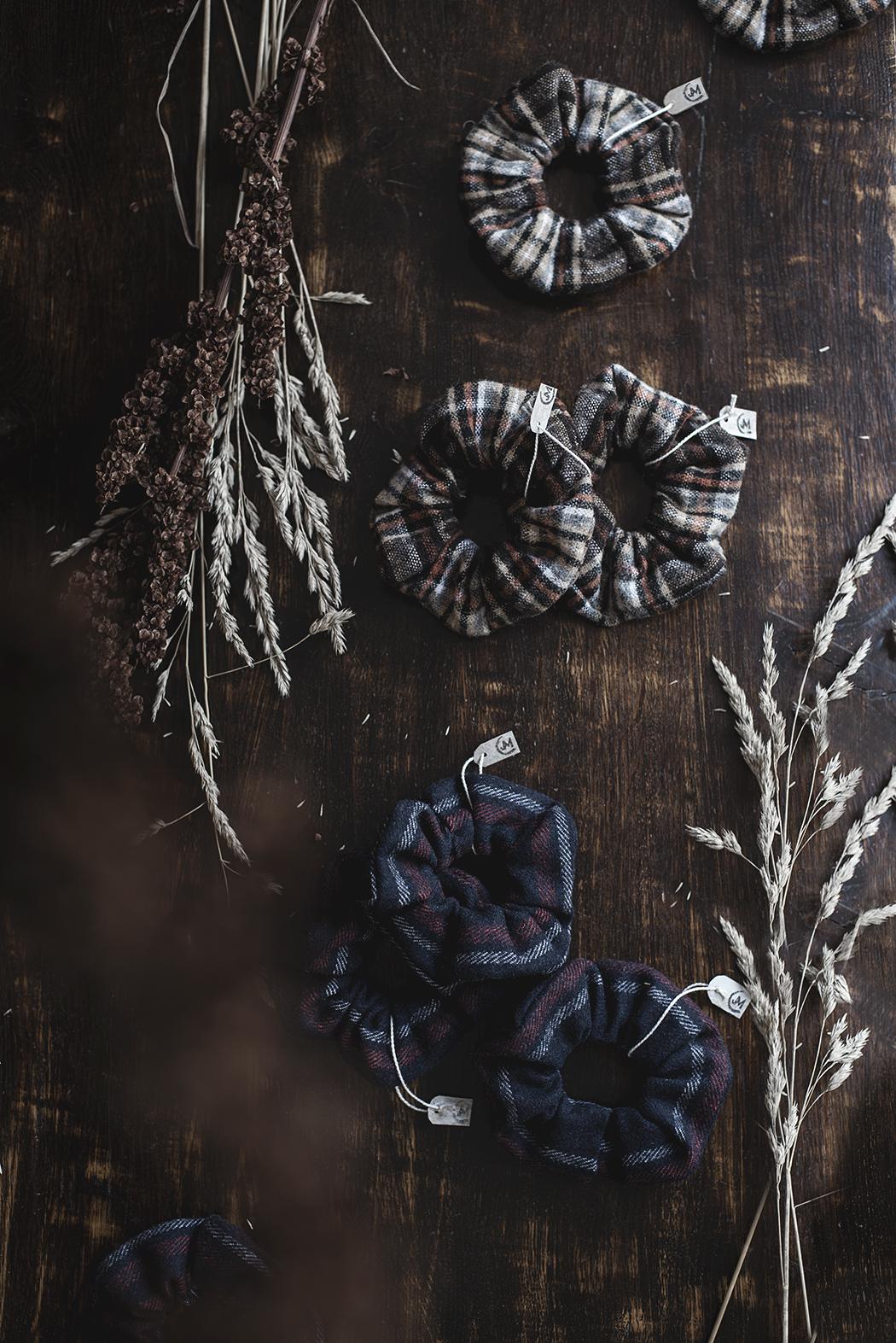 Nya scrunchies i 100% återanvänt material