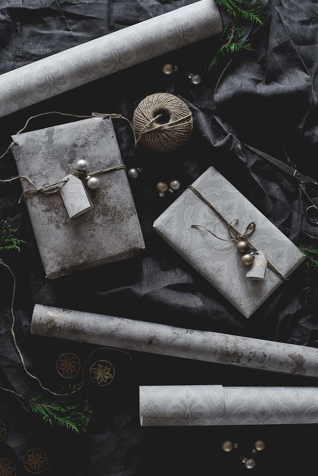 hållbar julklappsinslagning