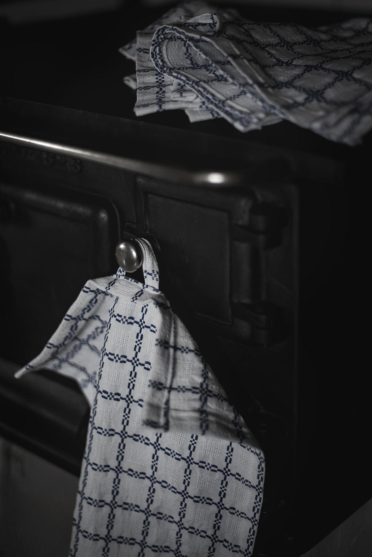 DIY: kökshanddukar av gammal gardin