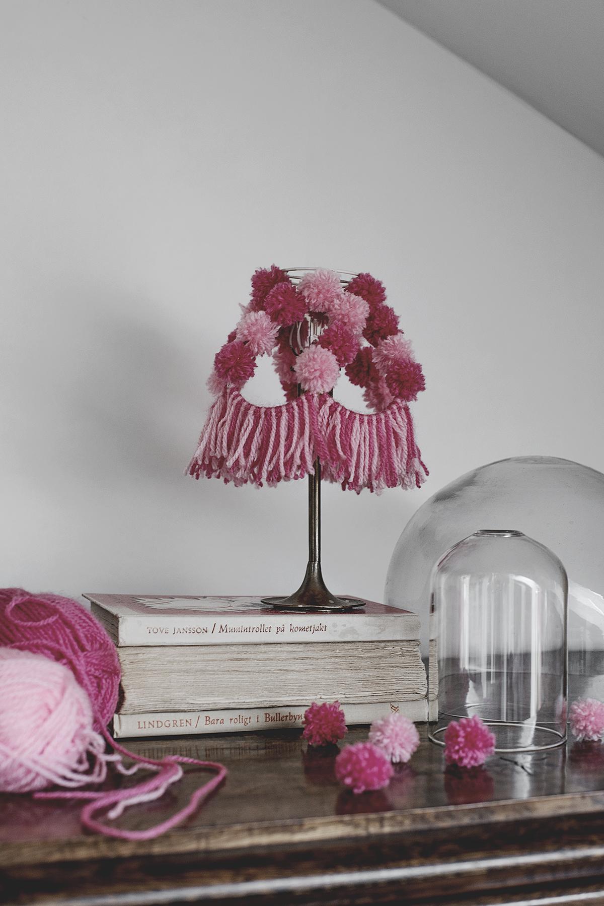 DIY: lampskärm av garn