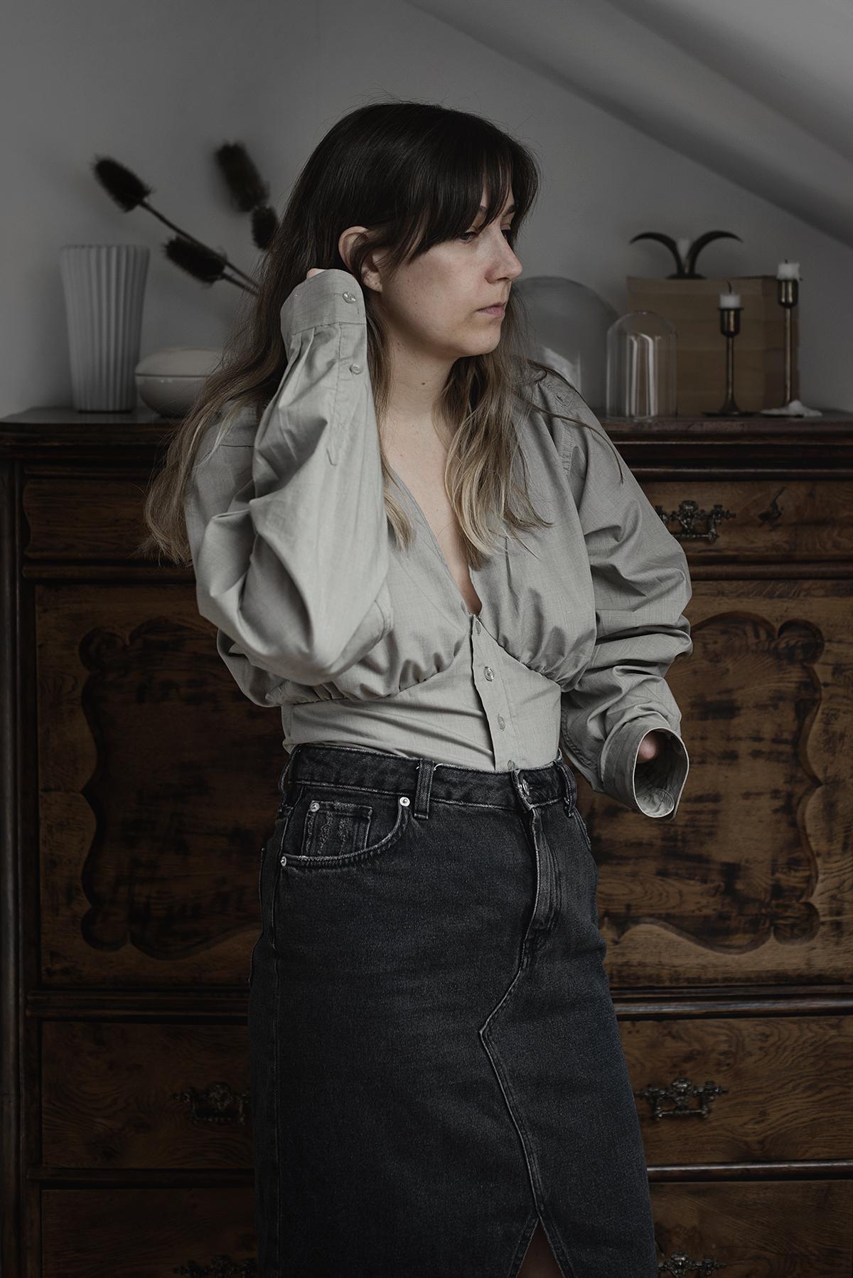 DIY – remake: skjorta till skjortblus